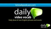 کلمات انگلیسی روزانه اپیسود 2