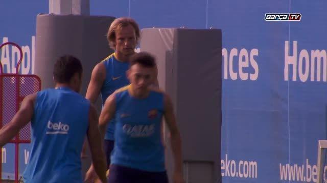 آخرین تمرین بارسلونا قبل از سفر به آمریکا (2015.07.17)