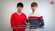 lotte duty free with donghae and eunhyuk