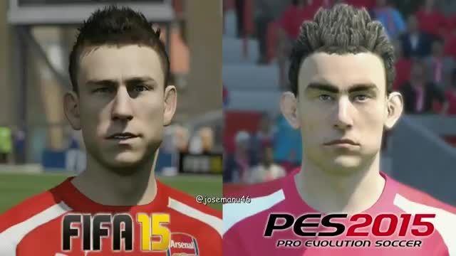 مقایسه چهره بازیکنان در PES 16  و FIFA 16