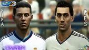 مقایسه چهره بازیکنان رئال مادرید در بازی PES و FIFA