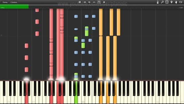 اجرای Cheri Cheri Lady با نرم افزار پیانو - سرعت 30%