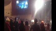 مهران مدیری و هدیه تهرانی و رضا عطاران در کنسرت مازیار فلاحی