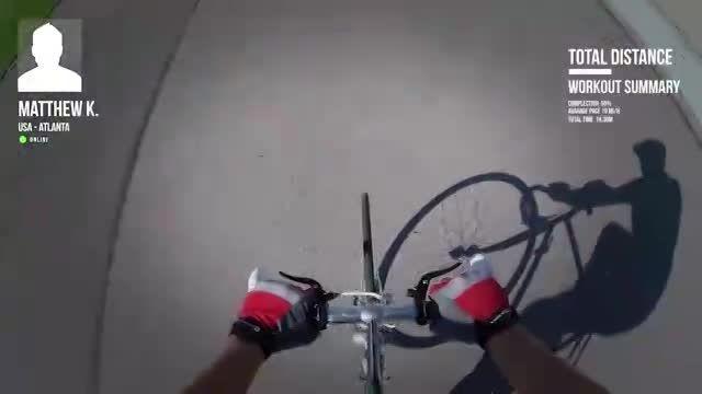 هدست واقعیت مجازی و حس دوچرخه سواری در جاده