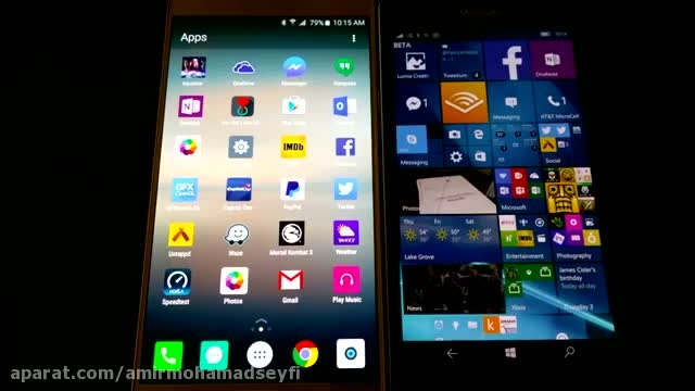 Lumia 950 vs Samsung Galaxy Note 5 _Apps Speed Test