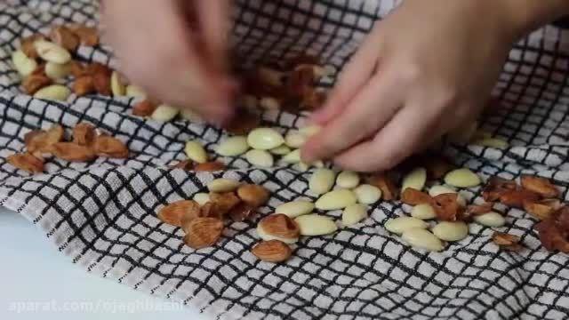 روش سریع و آسان پوست کندن مغز بادام