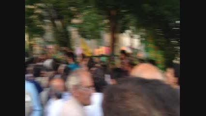 استقبال پرشور مردم همدان از احمدی نژاد
