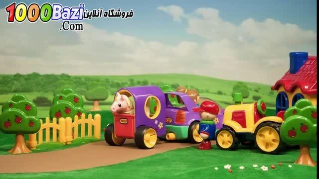 اسباب بازی کودک ماشین جیپ قرمز تولو
