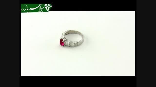 انگشتر نقره نگین سرخ طرح آتریسا زنانه - کد 6951