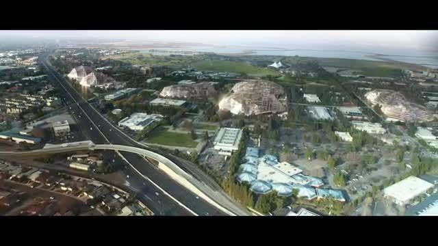 طرح مفهومی مقر مرکزی جدید گوگل در مانتین ویو