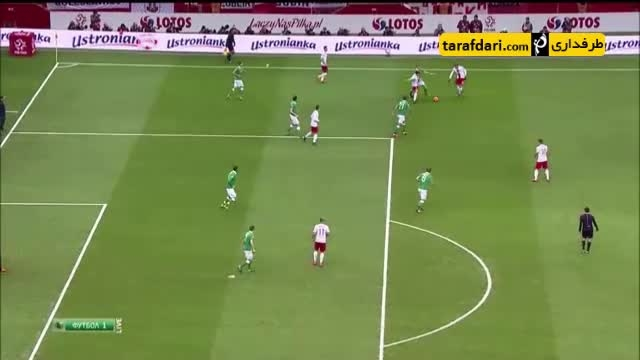 خلاصه بازی لهستان ٢ - ١ ایرلند جنوبى (گلزنی لواندوفسکی)