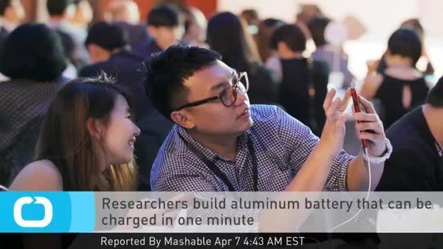 باتری که در یک دقیقه شارژ می شود