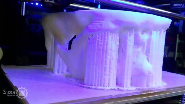 چاپ سه بعدی جمجمه انسان با پرینتر سه بعدی سی زان