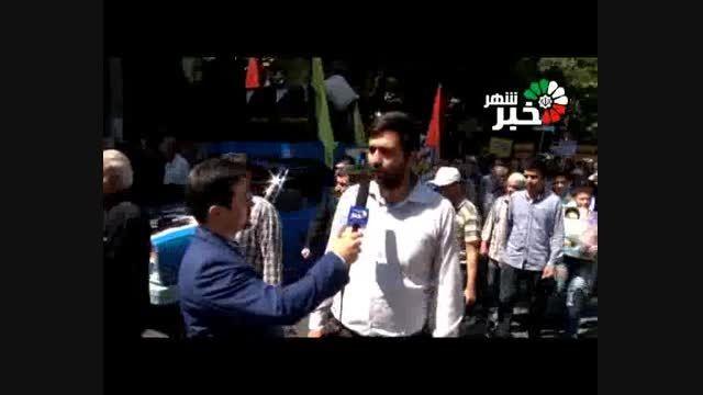 فیلم گزارش مردمی از حضور حماسی مردم شهریار در راهپیمایی