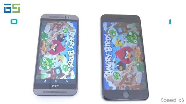 مقایسه سرعت سخت افزار و بنچمارک oneM9 و Iphone 6plus