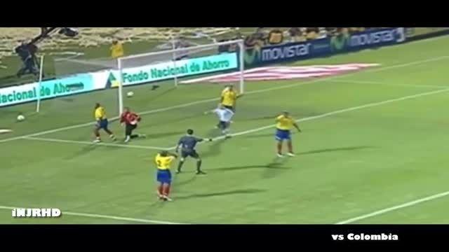 تمام 46 گل لیونل مسی در تیم ملی آرژانتین