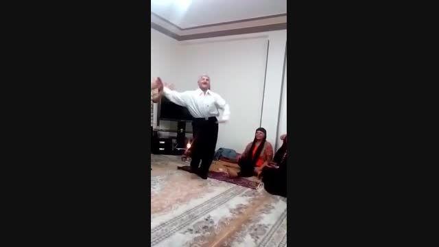 رقص خنده دار یك پیر مرد