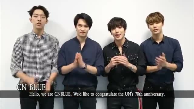 [Video] CNBLUE Message for UN's 70th Birthday