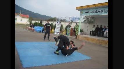 تمرین رزم دفاع شخصی پلیس ماسال