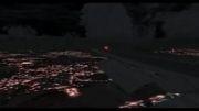فرود 747 ایران ایر در فرودگاه مشهد.شبیه ساز پرواز