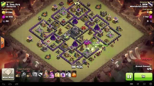 Clash of Clans - TH9 - GoHo - War 84 vs Trifecta - BEN
