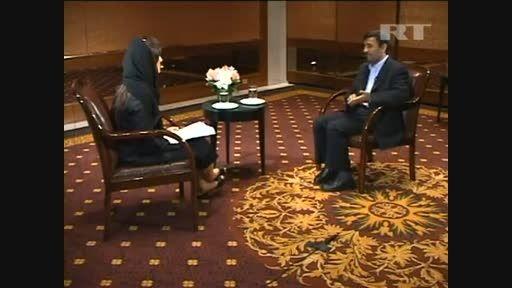 دکتر احمدی نژاد درباره فعالیت های هسته ای و دولت آمریکا