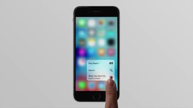 لمس سه بعدی در iphone 6s