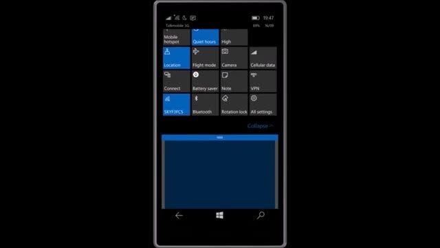 ویدیویی از بیلد 10536 ویندوز 10 موبایل