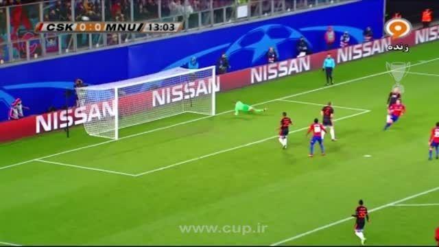 گل دومبیا؛ زسکا مسکو ( 1 ) - منچستر یونایتد ( 0 )