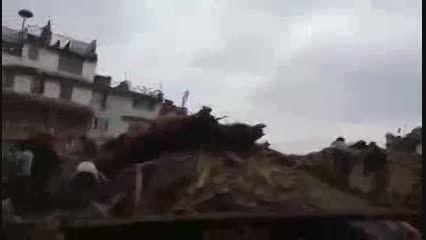 اولین تصاویر منتشر شده از زلزله نپال