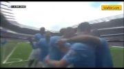 گل های بازی منچستر سیتی 2 - 0 وستهام یونایتد