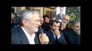 مداحی حاج منصور ارضی  در تشییع  مرحوم حاج  حسن کوچک زاده