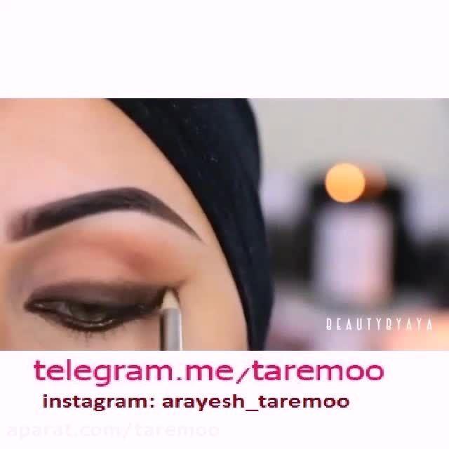آرایش چشم عربی در تار مو