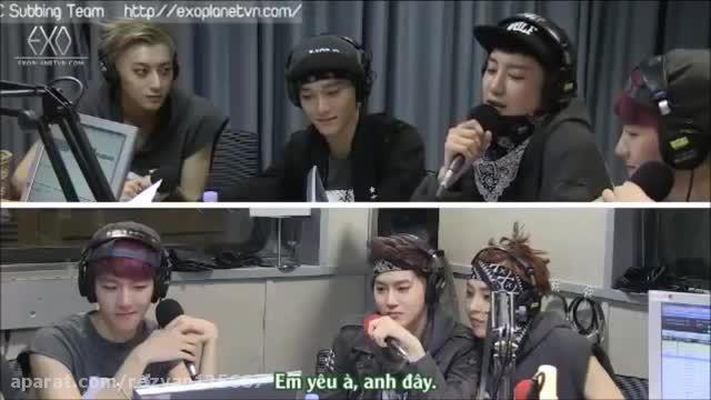 Baekhyun's reaction To Chanyeol's Girlfriend Talk
