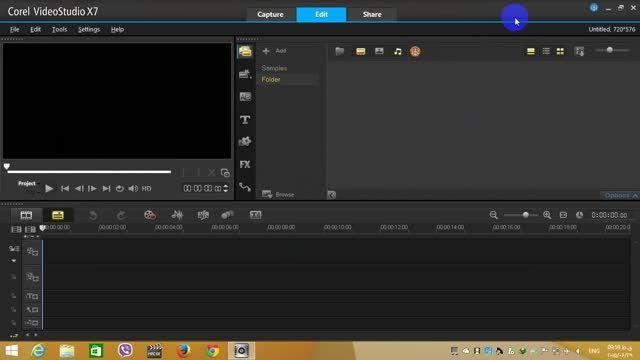 آموزش کار کردن با Corel vedio studio pro x7
