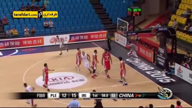گزارشی از پیروزی تیم ملی بسکتبال برابر فلسطین