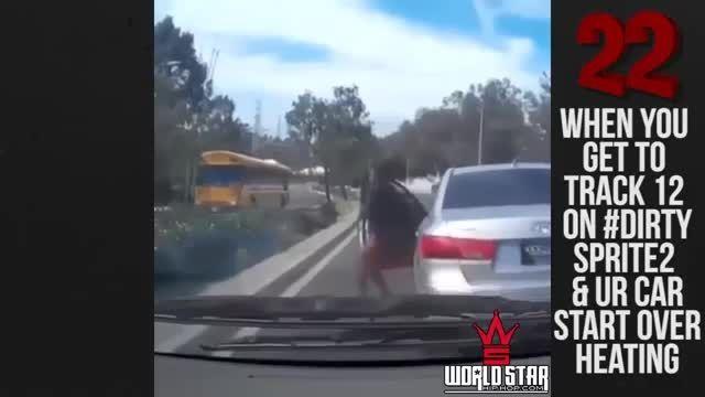 وقتی یه دختر از رانندگی خسته میشه :(((