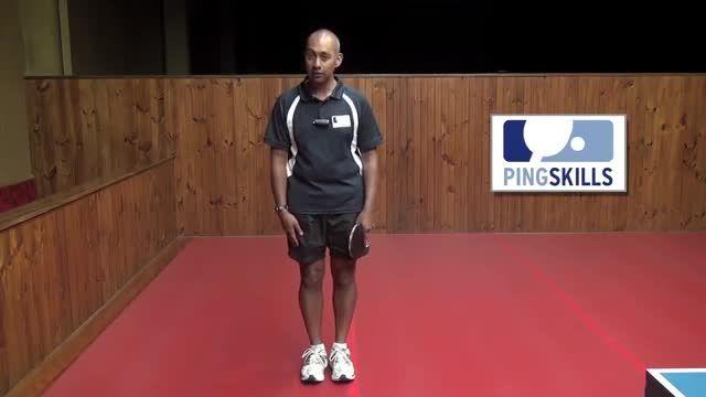 آموزش پینگ پنگ : نحوه ایستادن در پینگ پنگ و استیل صحیح