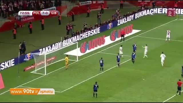گلهای بازی: لهستان ۸-۱ جبل الطارق