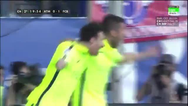 بارسلونا 1 - 0 اتلتیکو مادرید ( گل لیونل مسی)