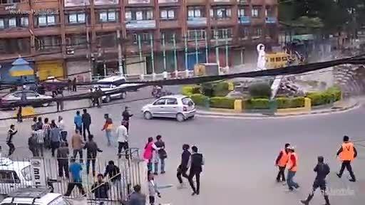 زلزله ویرانگر نپال از قاب دوربین شهری