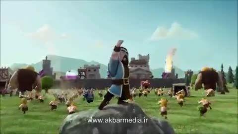 انیمیشن و تریلر جالب و خنده دار کلش آف کلنز