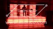 نورپردازی استیج led فول کالر کف و پشت جایگاه دی جی