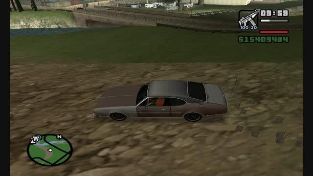 به هوا رفتن ماشین تو جی تی ای