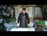 فیلم نحوه موم اندود کردن شان پلاستیکی با غلتک بخش یک