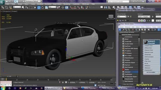 آموزش افترافکت فارسی ۳۳ ✿ فایل 3D Max در Element 3D