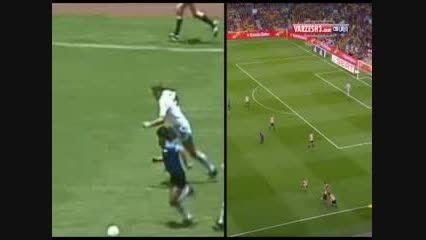 گل فوق العاده مسی به بیلبائو (مقایسه گل مسی بامارادونا)