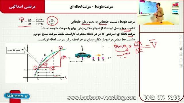 فیزیک۲-مبحث حرکت یکنواخت-مهندس اسدالهی-قسمت2