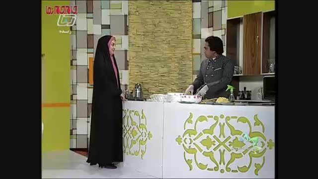 سالاد قالبی آموزش آشپزی فیلم کلیپ گلچین صفاسا
