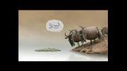 گفتگوی مازندرانی دو گاو درباره چوب یا تمساح بودن باحال!